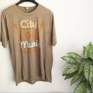 Next Level City of Music Austin TX graphic Tee